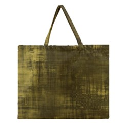 Fabric In Yellow Zipper Large Tote Bag