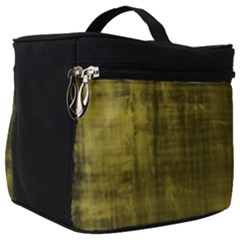 Fabric In Yellow Make Up Travel Bag (big)