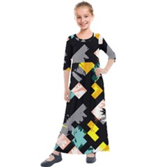 Jazz Up Kids  Quarter Sleeve Maxi Dress by saharastr33t