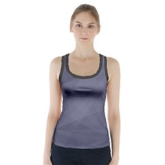 Dark In Grey  Racer Back Sports Top by TimelessFashion