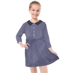 Dark In Grey  Kids  Quarter Sleeve Shirt Dress by TimelessFashion