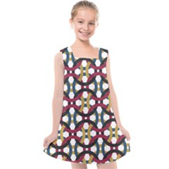 Entanglement Of Circles Kids  Cross Back Dress by TimelessFashion