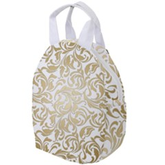 Floral Design In Gold  Travel Backpacks by TimelessFashion