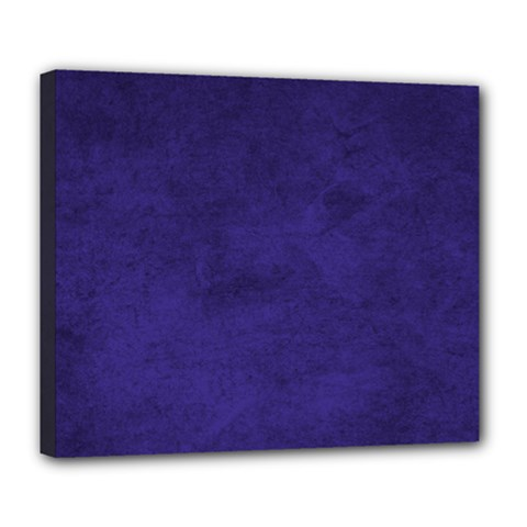 Fluffy Blue Deluxe Canvas 24  X 20  (stretched)