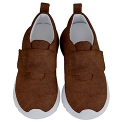 Fluffy Brown Kids  Velcro No Lace Shoes by TimelessFashion