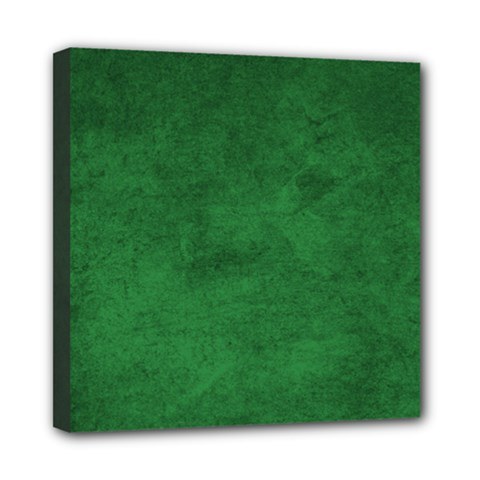 Fluffy Green Mini Canvas 8  X 8  (stretched)