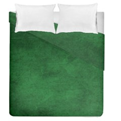 Fluffy Green Duvet Cover Double Side (queen Size) by TimelessDesigns