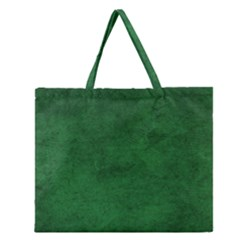 Fluffy Green Zipper Large Tote Bag by TimelessFashion