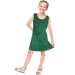 Fluffy Green Kids  Tunic Dress by TimelessFashion