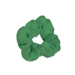 Fluffy Green Velvet Scrunchie by TimelessFashion