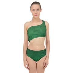 Fluffy Green Spliced Up Two Piece Swimsuit by TimelessFashion