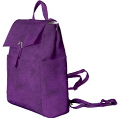 Fluffy Purple Buckle Everyday Backpack by FEMCreations