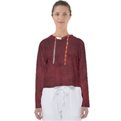 Fluffy Red Women s Slouchy Sweat