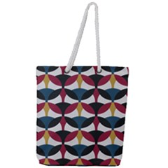 Inner Circle  Full Print Rope Handle Tote (large)
