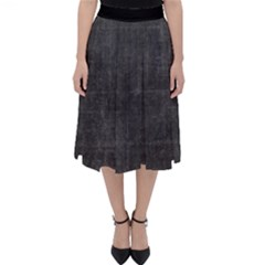 Leather Black  Classic Midi Skirt by TimelessFashion