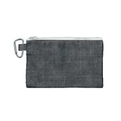 Leather Black  Canvas Cosmetic Bag (small)
