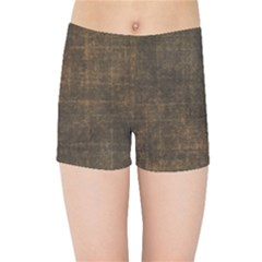 Leather Brown Kids  Sports Shorts