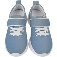 Metallic Blue Kids  Velcro Strap Shoes by TimelessFashion