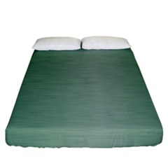 Metallic Green Fitted Sheet (california King Size) by TimelessDesigns