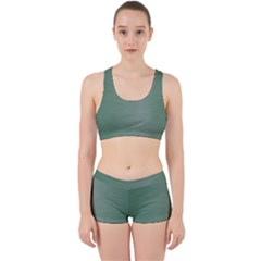 Metallic Green Work It Out Gym Set by TimelessFashion