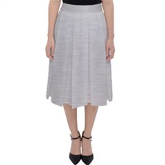 Metallic Grey Classic Midi Skirt by TimelessFashion