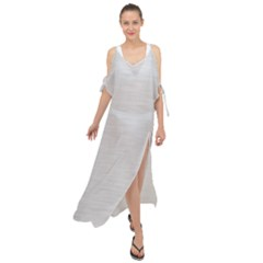 Metallic Grey Maxi Chiffon Cover Up Dress by TimelessFashion