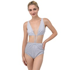 Metallic Grey Tied Up Two Piece Swimsuit by TimelessFashion