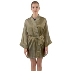 Metallic Yellow Long Sleeve Kimono Robe by TimelessFashion