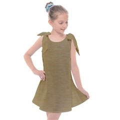 Metallic Yellow Kids  Tie Up Tunic Dress by TimelessFashion