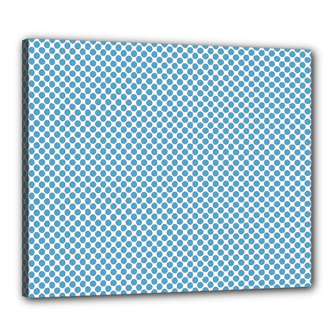 Polka Dot Blue  Canvas 24  X 20  (stretched) by TimelessDesigns