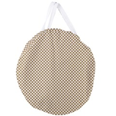 Polka Dot Brown Giant Round Zipper Tote