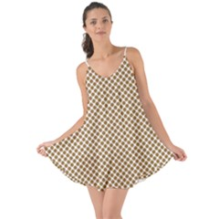 Polka Dot Brown Love The Sun Cover Up