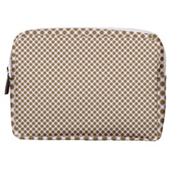 Polka Dot Brown Make Up Pouch (medium)