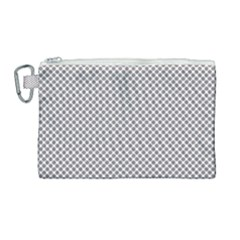 Polka Dot Grey Canvas Cosmetic Bag (large) by TimelessFashion