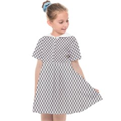 Polka Dot Grey Kids  Sailor Dress