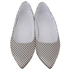 Polka Dot Grey Women s Low Heels by FEMCreations
