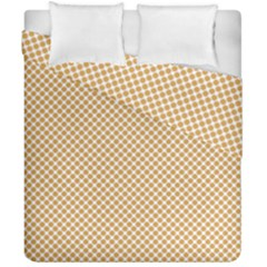 Polka Dot Orange Duvet Cover Double Side (california King Size)