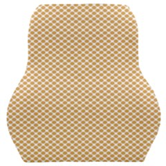 Polka Dot Orange Car Seat Back Cushion