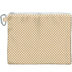 Polka Dot Orange Canvas Cosmetic Bag (xxxl)