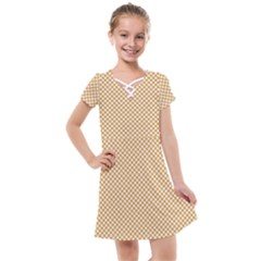 Polka Dot Orange Kids  Cross Web Dress by TimelessFashion