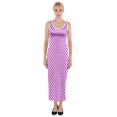 Polka Dot Pink  Fitted Maxi Dress by TimelessFashion