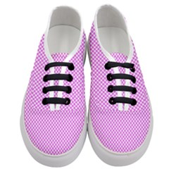 Polka Dot Pink  Women s Classic Low Top Sneakers