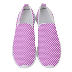 Polka Dot Pink  Women s Slip On Sneakers by TimelessFashion