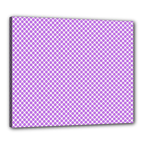 Polka Dot Purple Canvas 24  X 20  (stretched) by TimelessDesigns