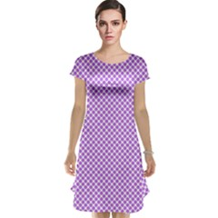 Polka Dot Purple Cap Sleeve Nightdress