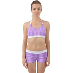 Polka Dot Purple Back Web Gym Set by TimelessFashion
