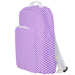 Polka Dot Purple Double Compartment Backpack by TimelessFashion