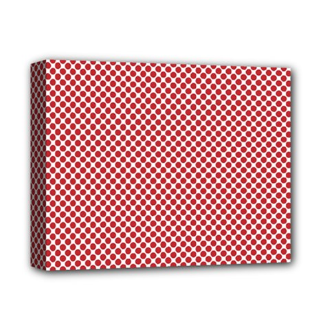 Polka Dot Red  Deluxe Canvas 14  X 11  (stretched) by TimelessDesigns