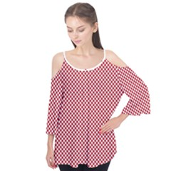 Polka Dot Red  Flutter Tees