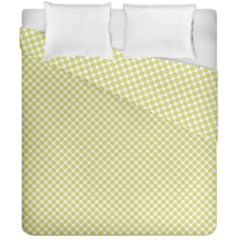 Polka Dot Yellow  Duvet Cover Double Side (california King Size)
